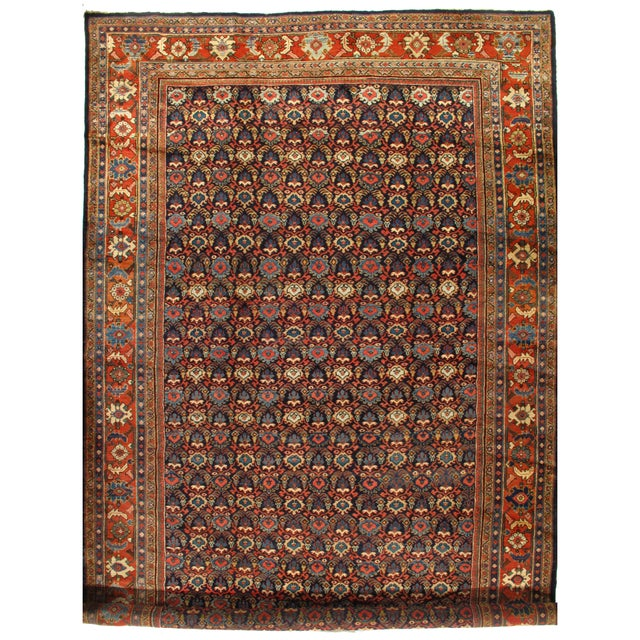 "Early 20th Century Pasargad Antique Persian Sultanabad Rug - 10′3″ × 17'4"" For Sale - Image 5 of 5"