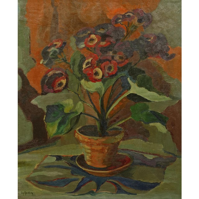 Circa 1940s Vintage American Modernist Still Life Painting - Image 1 of 7