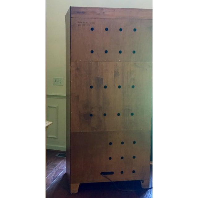 Brown Vintage Ethan Allen Entertainment Cabinet For Sale - Image 8 of 9