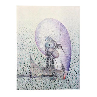 Abstract - Surrealist Lithograph For Sale