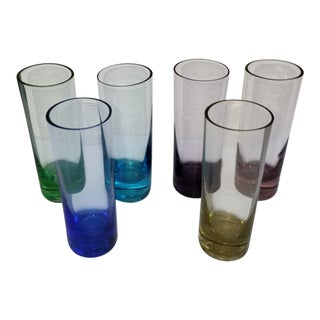 1950s Vintage Rainbow Shot Glasses - Set of 6