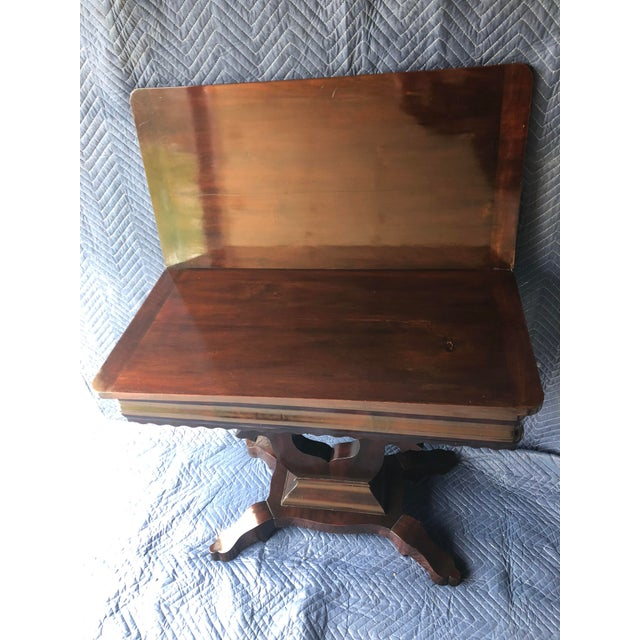Mid 20th Century Traditional Swivel Top Mahogany Game Table For Sale - Image 5 of 6