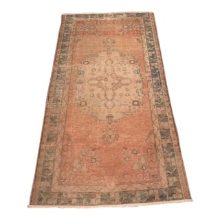 1940s Vintage Turkish Oushak Rug - 3′6″ × 6′6″ For Sale