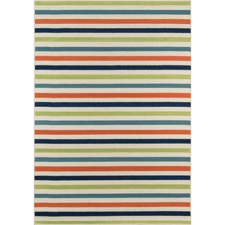 "Momeni Baja Multi Stripe Indoor/Outdoor Rug - 7'10"" X 10'10"""