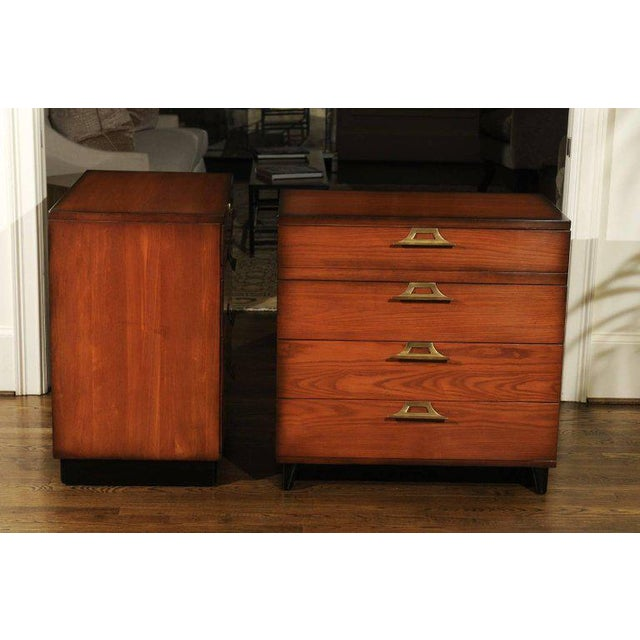1950s Rare Restored Pair of Commodes by John Wisner for Ficks Reed, Circa 1954 For Sale - Image 5 of 11
