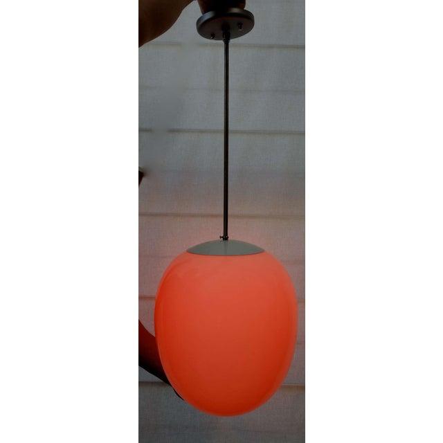 Modern Egg Pendant Light For Sale - Image 4 of 5