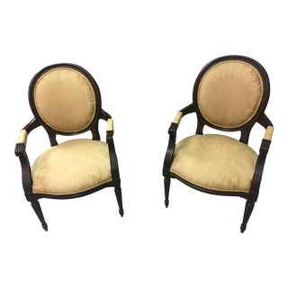 Baker French Provincial Arm Chairs - A Pair