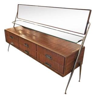 Mid-Century Silvio Cavatorta Mahogany Vanity Dresser For Sale