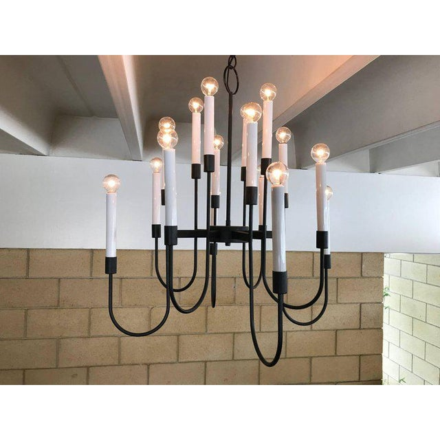 1960s Lightolier chandelier - these have 16 bulbs and any bulb style will work; round, candle-flame, frosted, etc. I...