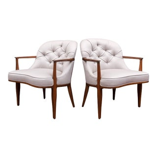 Pair of Janus Lounge Chairs by Edward Wormley for Dunbar For Sale