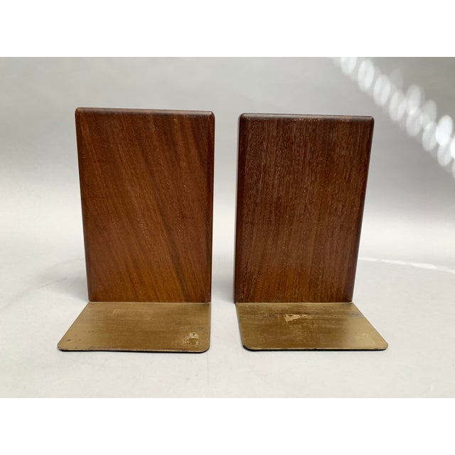 Mid-Century Modern Walnut and Tile Bookends - a Pair For Sale In New York - Image 6 of 10
