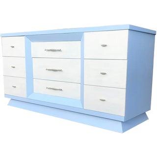 Mid Century Modern Blue Dresser For Sale