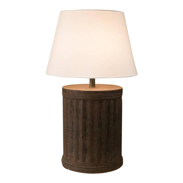 Rustic Industrial Brown Metal Table Lamp - Image 1 of 5