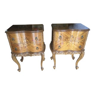 Frency Style Inlaid Nightstands