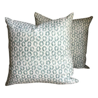 Kravet Thom Filicia Collection Fabric Pillow Covers - a Pair For Sale