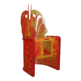 """Nobody's Perfect"" Resin Chair by Gaetano Pesce For Sale"