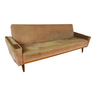 Amazing Scandinavian Modern Teak Sofa or Daybed For Sale