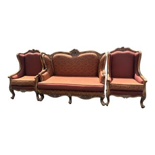 Italian Style Living Room Seating- Set of 3 For Sale