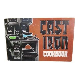 1960s/1970s Vintage Cast Iron Cookbook For Sale