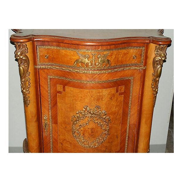Antique Inlaid French Empire Revival Cabinet - Image 5 of 8