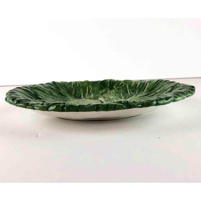 Green Vintage Vietri Italy Lettuce Leaf Plates – Set of 6 For Sale - Image 8 of 12