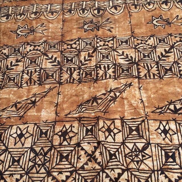 Tapa Cloth Wall Hanging For Sale In Los Angeles - Image 6 of 10