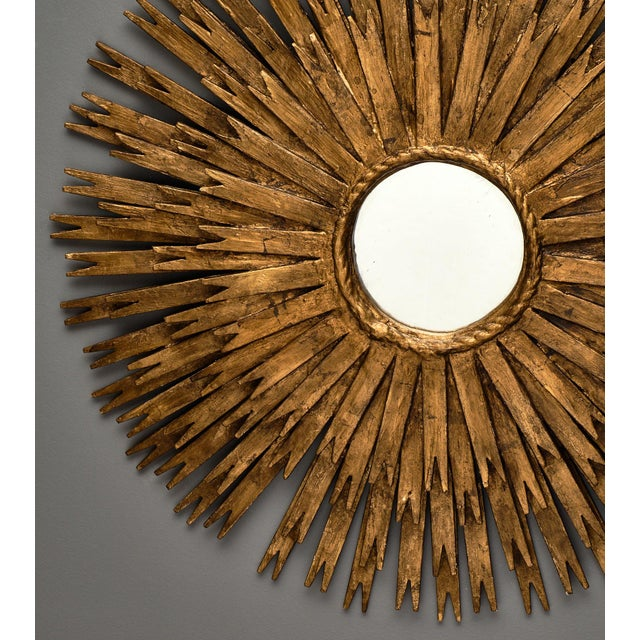 Glass Vintage Spanish Sunburst Mirror For Sale - Image 7 of 10