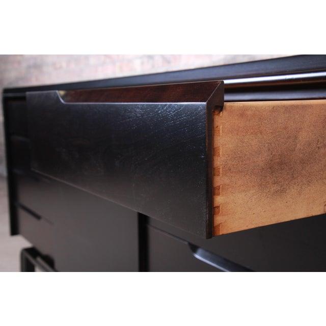 Ebony Edmond Spence Swedish Modern Ebonized Sideboard Credenza, Newly Refinished For Sale - Image 8 of 13