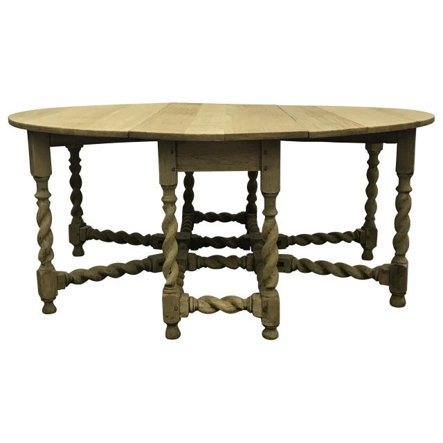 Bleached Oak Gate Leg Dining Table - Image 9 of 9