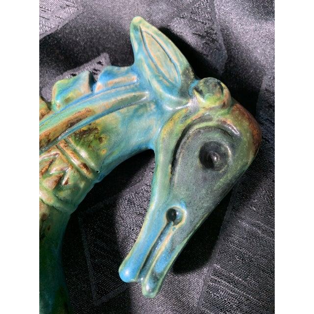 "1950s Vintage Alvino Bagni ""Sea Garden"" Italian Sea Horse Pottery Sculpture For Sale - Image 11 of 13"