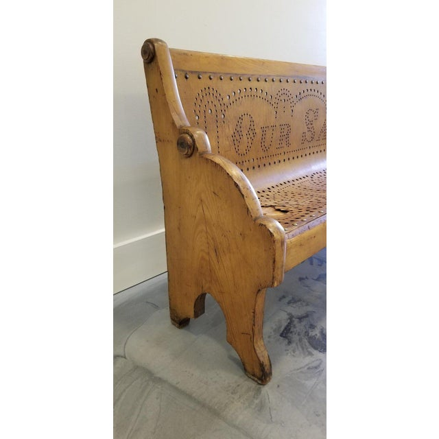 19th Century Children's Church Pew or Bench For Sale In San Francisco - Image 6 of 13