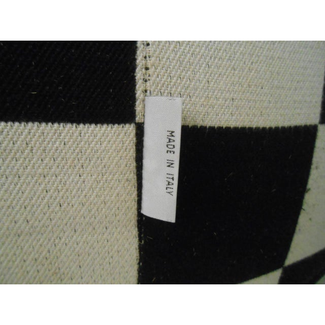 White Checkered Contemporary Modern Italian Club Chair For Sale - Image 8 of 8