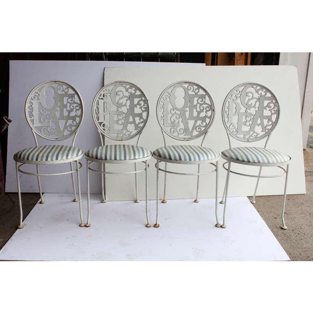 Russell Woodard Mid-Century Vintage Garden Chairs- Set of 4 For Sale - Image 4 of 4
