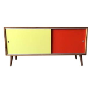 Mid Century Style Custom Two Tone Credenza For Sale