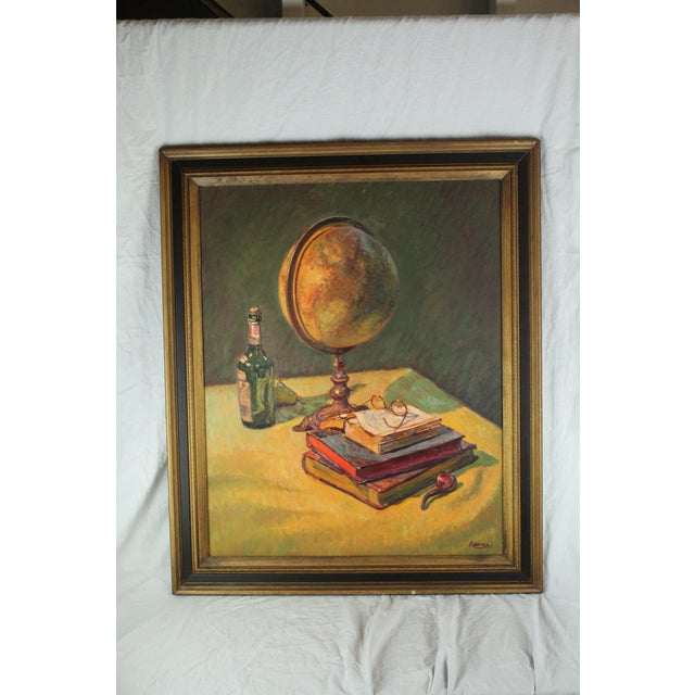 "1950s ""Dreams of Travel"" Oil Painting by Foster Caddell For Sale - Image 5 of 5"
