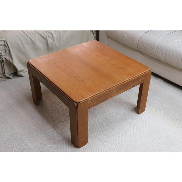 1970s Danish Modern Niels Eilersen Solid Teak Side Table For Sale - Image 5 of 5