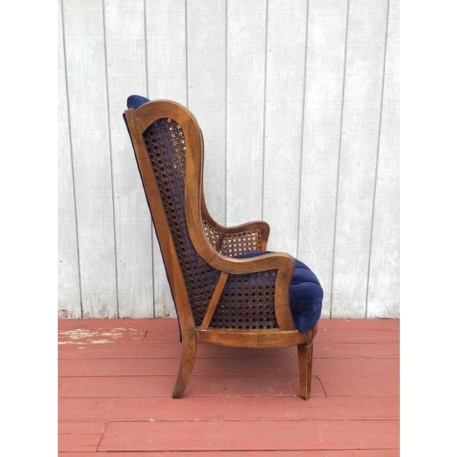 Vintage Cane Lewitte Wing Back Chairs - A Pair - Image 4 of 7