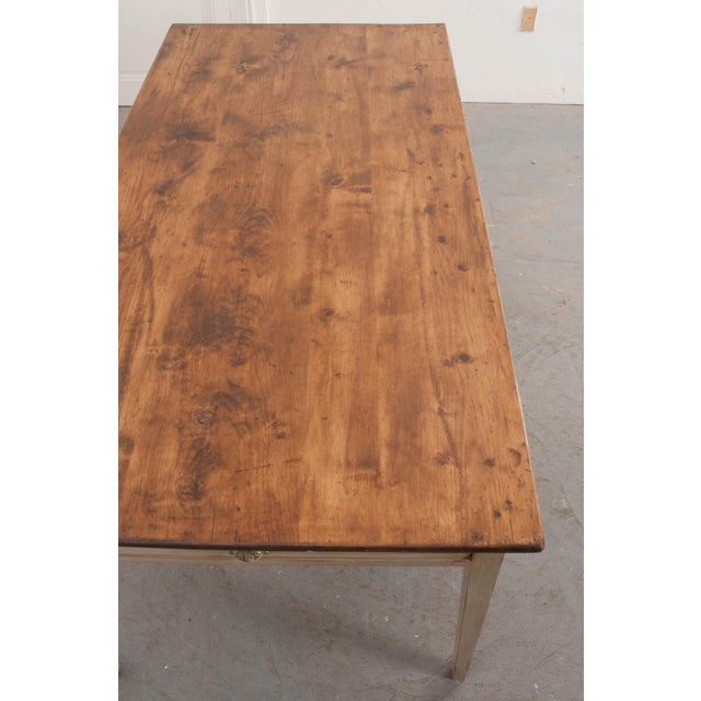 Country 19th Century English Painted Pine Farm Table For Sale - Image 3 of 10
