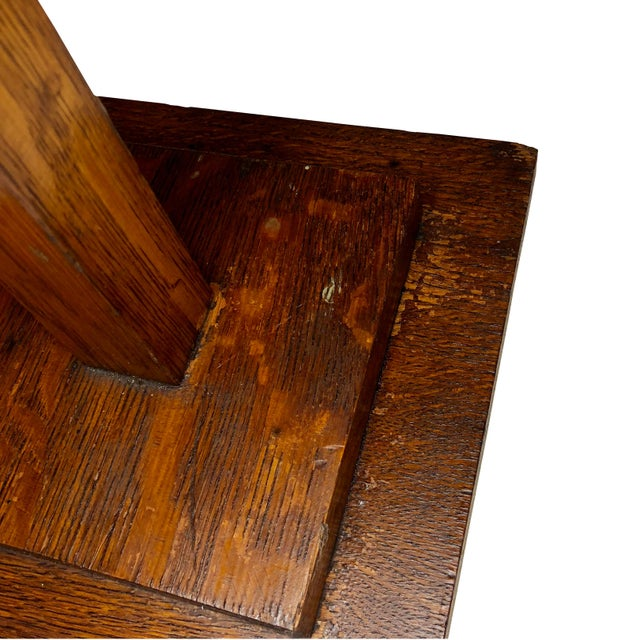 20th Century Arts & Crafts Mission Oak Revolving Necktie Jewelry Display Rack For Sale - Image 10 of 11