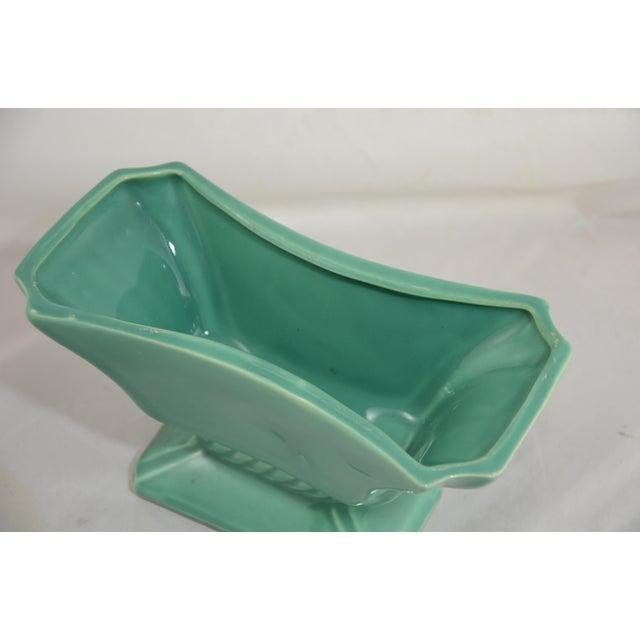 Mid 20th Century Aqua Green Rectangular Planter For Sale - Image 4 of 8