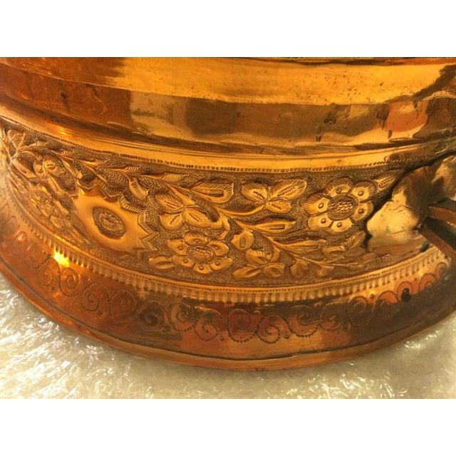 Antique Copper Repousse Paan Dan Box For Sale In Birmingham - Image 6 of 7