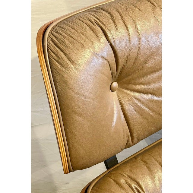 Charles Eames, Herman Miller Midcentury Chair and Ottoman For Sale - Image 10 of 13