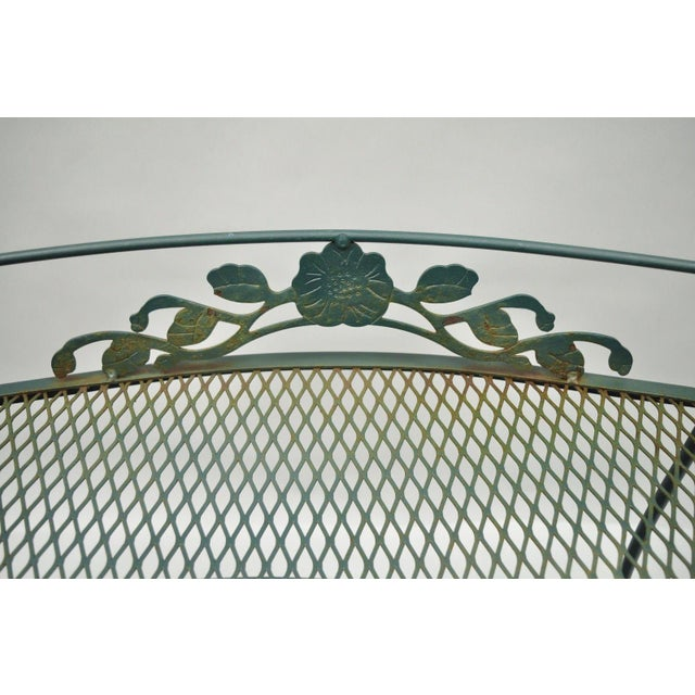 Meadowcraft Dogwood Green Wrought Iron Tea Cart Rolling