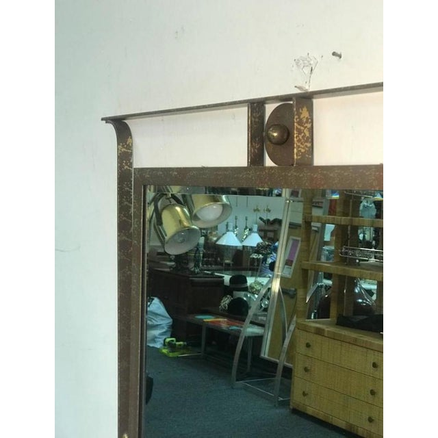 Late 20th Century Gorgeous Carvers Guild Wall Mirror in the Manner of Jean Royere For Sale - Image 5 of 9