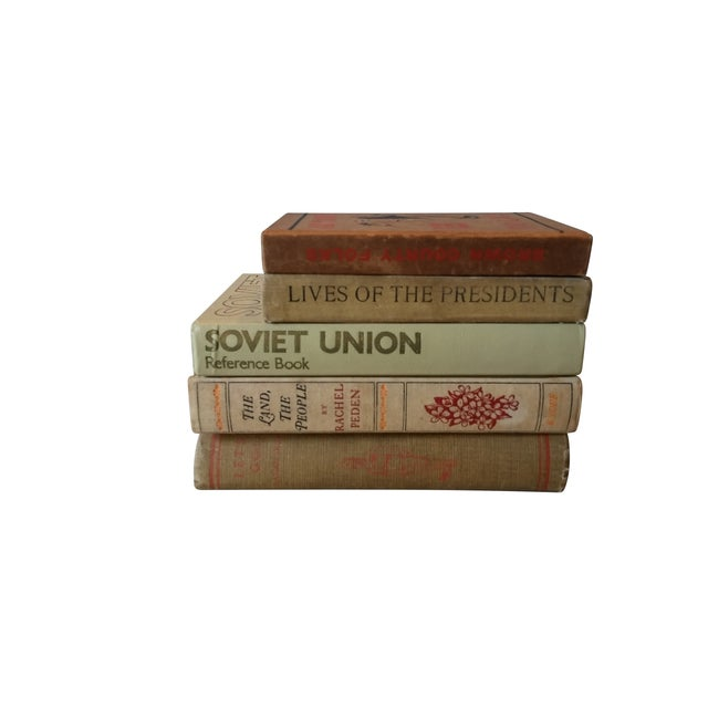 Decorative Vintage Books - Set of 5 - Image 4 of 4