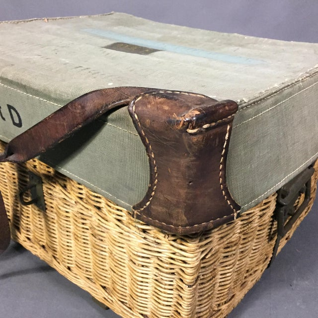 Canvas Vintage Swiss Army Military Basket, 1940s, Switzerland For Sale - Image 7 of 10