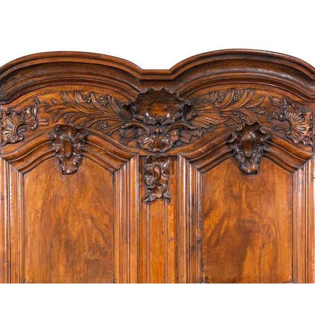 French Provincial Double Door Armoire For Sale - Image 4 of 9