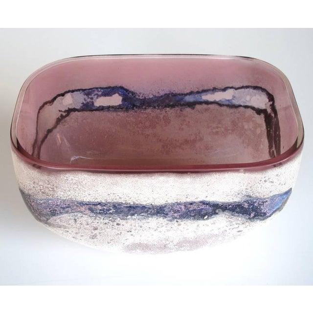 Italian Rare Murano 1960s Alfredo Barbini 'Scavo' Glass Bowl For Sale - Image 3 of 5