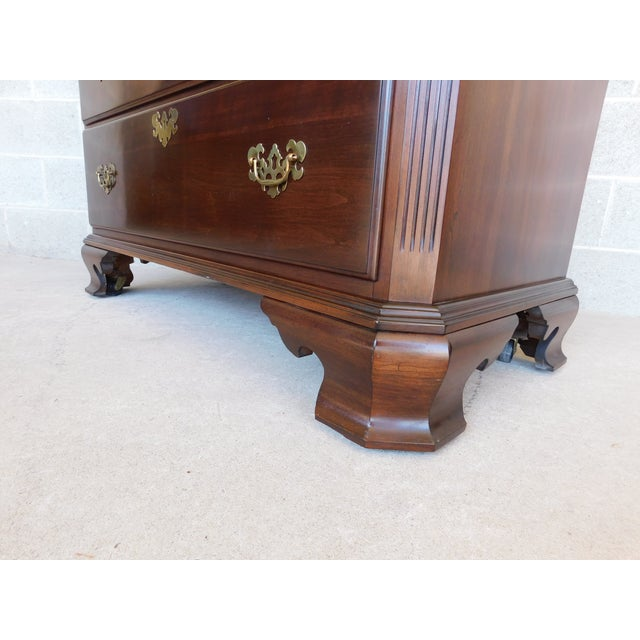 Ethan Allen Georgian Court Cherry Armoire / Chest 11-5245 For Sale - Image 10 of 13