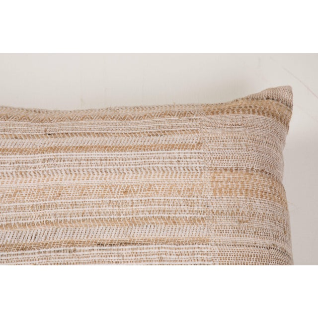 Boho Chic Indian Handwoven Pillow Hand Variation Arrow For Sale - Image 3 of 6